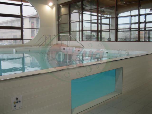 Vasca riabilitativa con camminamento vascolare caldo:freddo - BOLOGNA